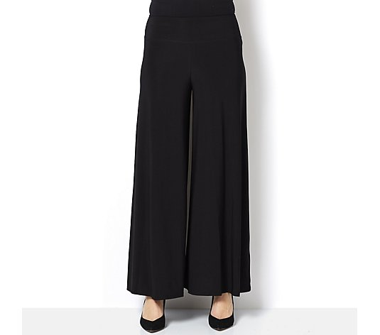 Coco Bianco Jersey Wide Band Palazzo Trouser