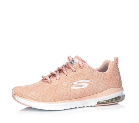 Skechers Air Infinity All Aglow Abstract Knit Mesh Lace Shoe