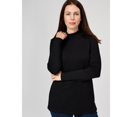 Isaac Mizrahi Live Essentials Mock Neck Tunic