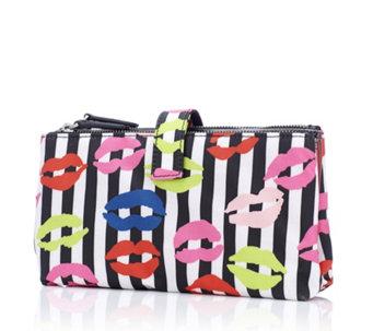 Lulu Guinness Stripe Lip Double Make Up Bag - 175333 875a8e598ff21