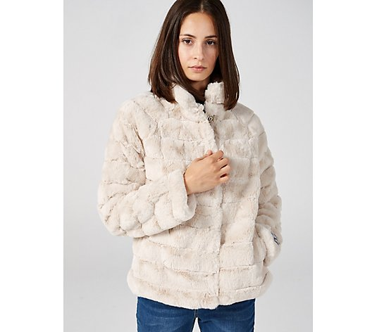 Rino & Pelle Concealed Button Faux Fur Jacket