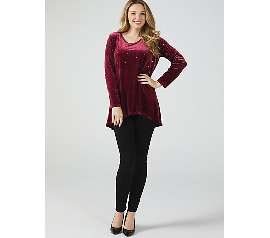 Quacker Factory Velvet Sparkle Top