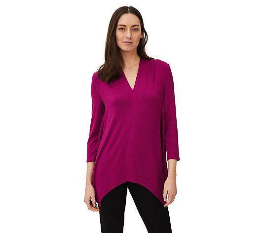 Phase Eight Longline V Neck Top