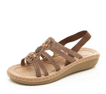1c57f96b45fe Earth Spirit Portland Suede Wedge Sandal - 170034