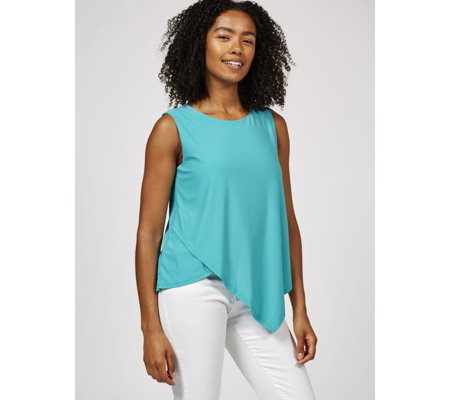 Antthony Designs Sleeveless Top with Asymmetric Hem