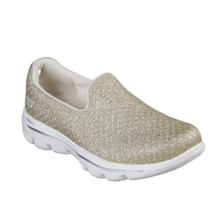 87fe031e1164d Skechers Go Walk Sparkle Crochet Slip On Trainer - QVC UK