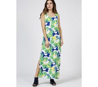 df3184d75c Alton Gray Sleeveless Printed Maxi Dress - 178634