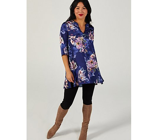Butler & Wilson Flower Printed V Neck Top