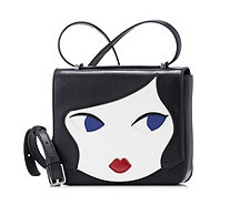 Lulu Guinness Marcie Doll Face Leather Crossbody Bag - 167735