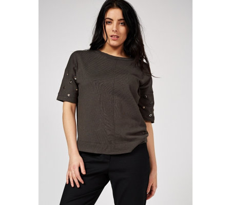 Phase Eight Marjory Metal Trim Knit Top