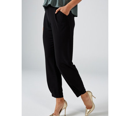 MarlaWynne Jersey Pleated Detail Trousers