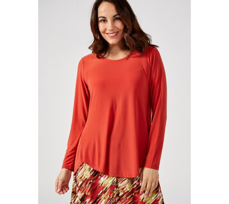 Antthony Designs Long Sleeve Shirttail Top with Back Detail