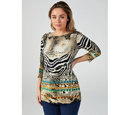 Artscapes Safari Tunic with Side Slits