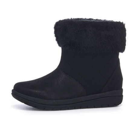 Clarks Cabrini Reef Ankle Boot with Faux Fur Cuff