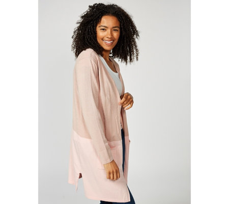 Colour Block Knitted Cardigan by Michele Hope
