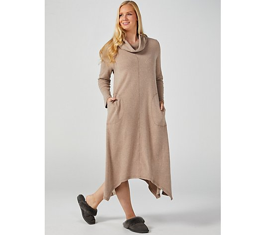 Carole Hochman Extra Brushed Interlock Cowl Neck Lounger