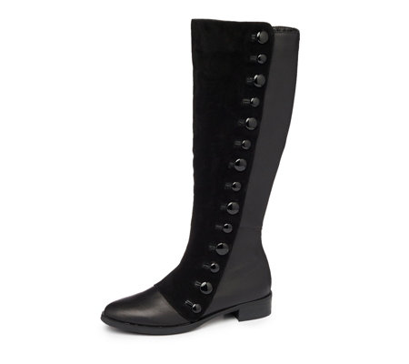 Moda In Pelle Vizzet Button Detail Knee Boot