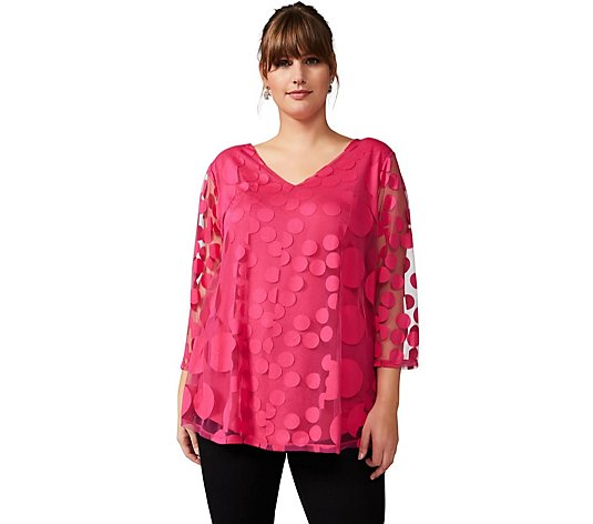 Studio 8 By Phase Eight Ashanti Spot Overlay Top
