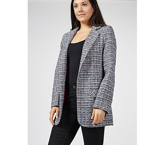 Helene Berman Tweed Longline Blazer