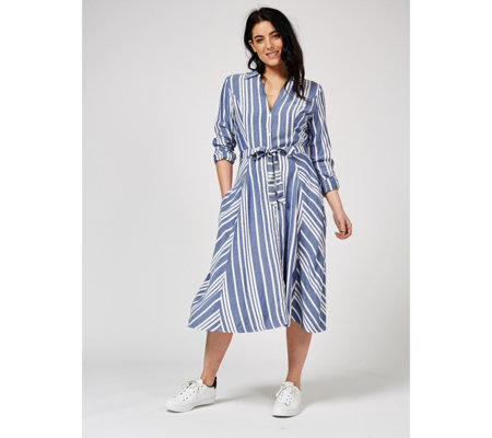 Phase Eight Willa Long Sleeve Stripe Dress