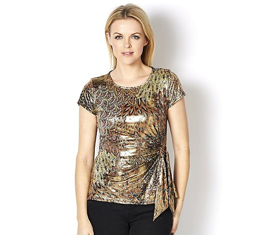 Coco Bianco Foil Top with Side Waist Tie