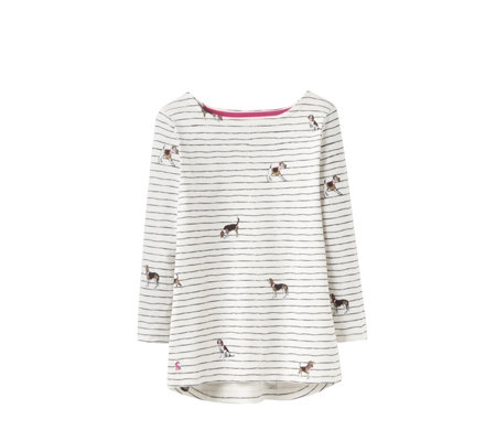 Joules Printed Harbour Top with 3/4 Sleeve