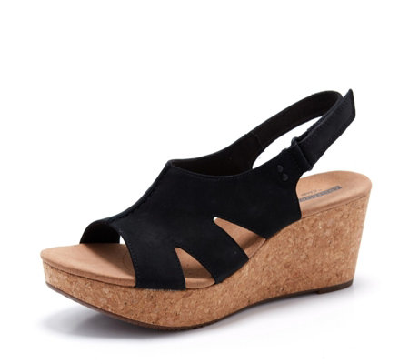 Clarks Annadel Bari Wedge Sandal Wide Fit