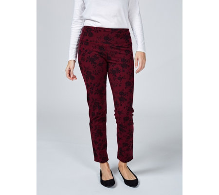 Renee's Reversible Tummy Control Print & Plain Trousers Regular
