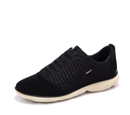 Geox Nebula Textured Knit Slip On Trainer