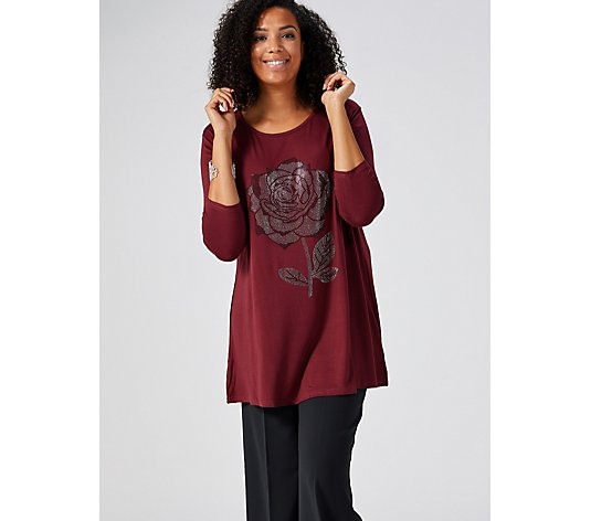 Frank Usher Crystal Rose 3/4 Sleeve Top