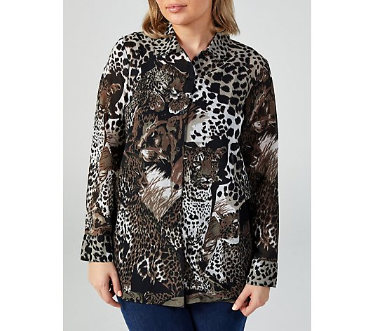 Artscapes Animal Print Georgette Shirt