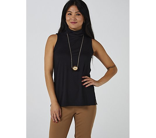 WynneLayers Sleeveless Turtleneck Knit Top