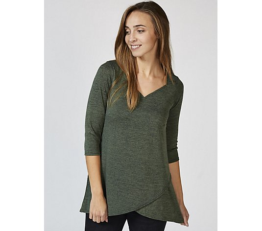Grace Sweetheart Neck Knit Tunic with Tulip Hem