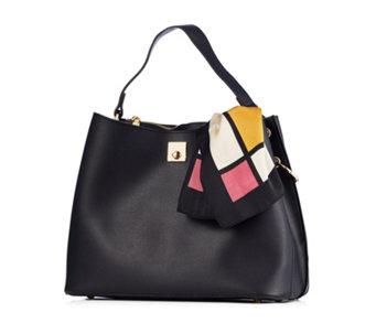 Frank Usher Bag With Square Satin Scarf 171639
