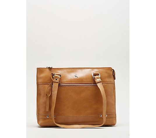 Ashwood Leather Zip Detail Shoulder Bag