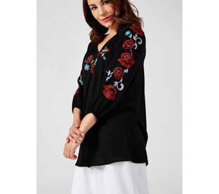 Antthony Designs Embroidered Tunic