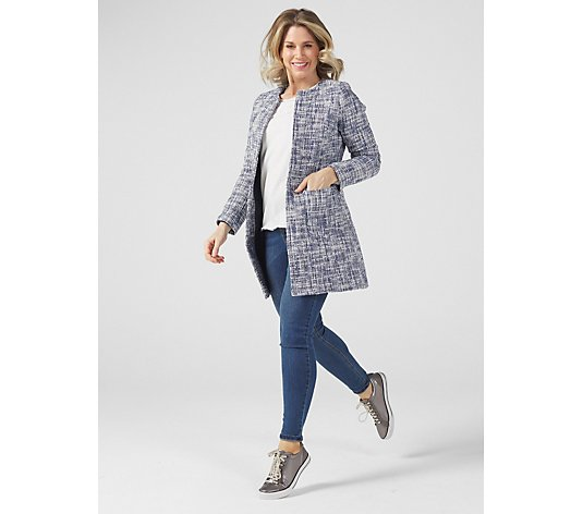 Helene Berman Alice Tweed Edge to Edge Patch Pocket Jacket