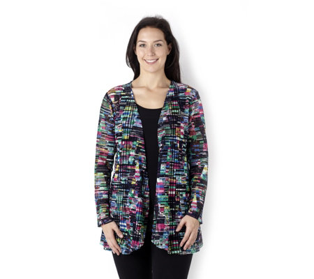 Kaleidoscope Lace Edge to Edge Cardigan by Michele Hope