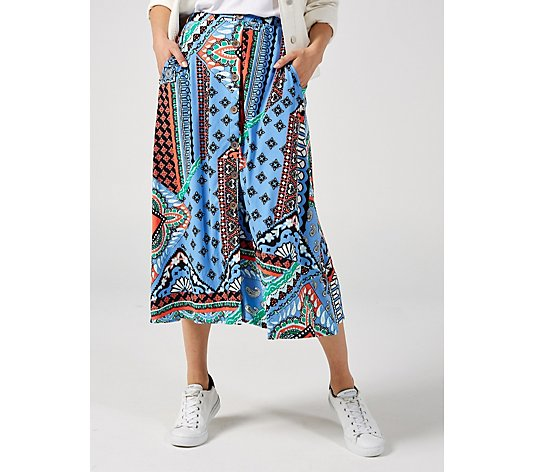 Antthony Designs Button Up Printed Skirt