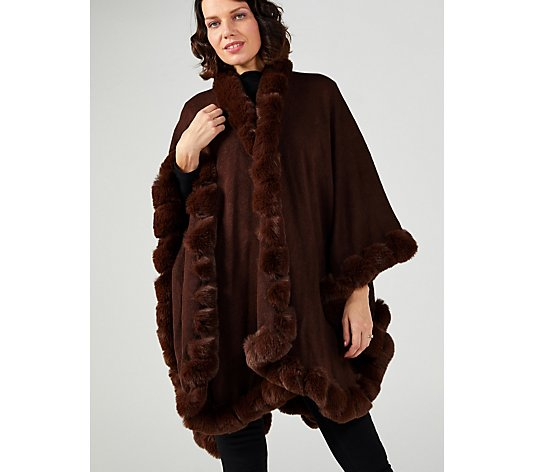 Frank Usher Teddy Fur Trim Wrap