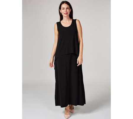 Liquid Knit Tiered Maxi Dress by Susan Graver