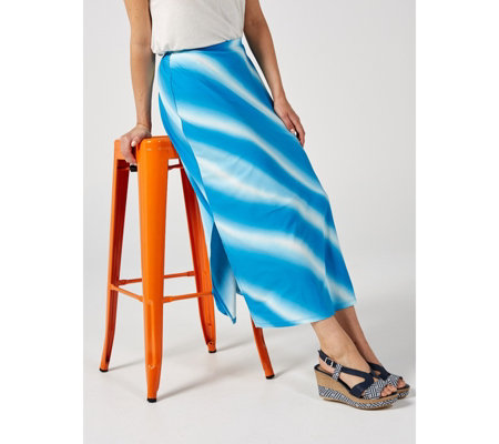 Antthony Designs Tie Dye A Line Skirt with Side Vents