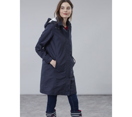 Joules Headland A Line Raincoat with Removable Hood