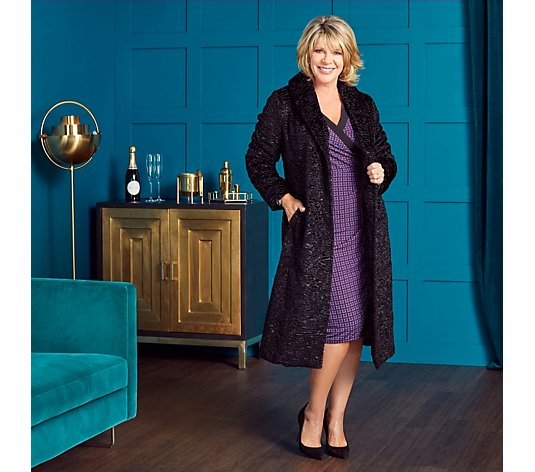 Ruth Langsford Faux Astrakhan Coat