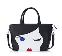 Lulu Guinness Lulu Doll Face Large Leather Wanda Crossbody Bag - 163442