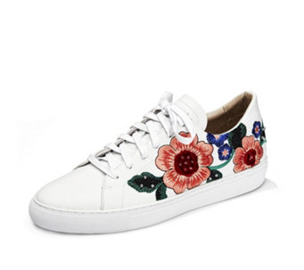 Skechers Vaso Embroidered Floral Trainers - 167142
