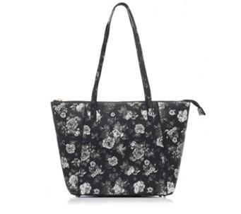 Butler Wilson Flower Print Zipped Tote Bag 169042