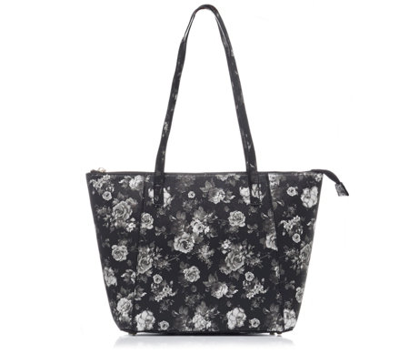 Butler & Wilson Flower Print Zipped Tote Bag