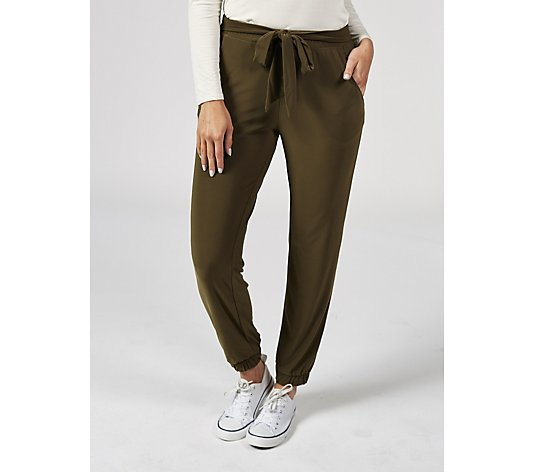 Outlet Elasticated Waist Trousers with Side Pockets by Nina Leonard