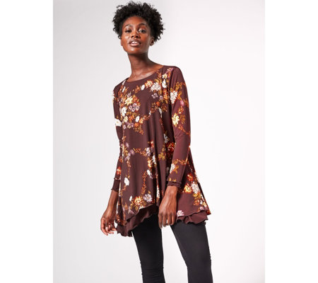 Attitudes By Renee Long Sleeve Reversible Tunic